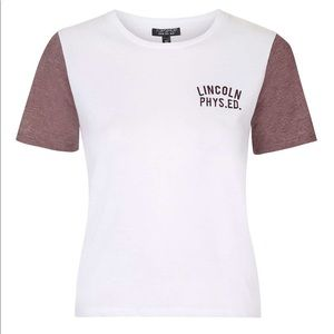 Topshop lincoln phys ed tee size US 8